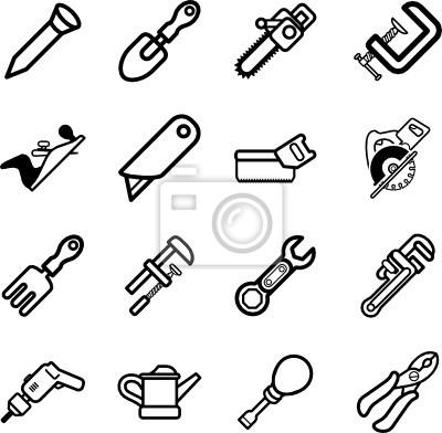 Zestaw ikon Ikony narzędziowe serii