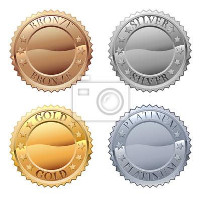 Naklejka Zestaw ikon medali