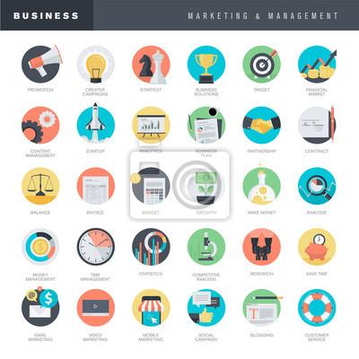 Zestaw ikon projektowych dla płaskich i marketingu firmy