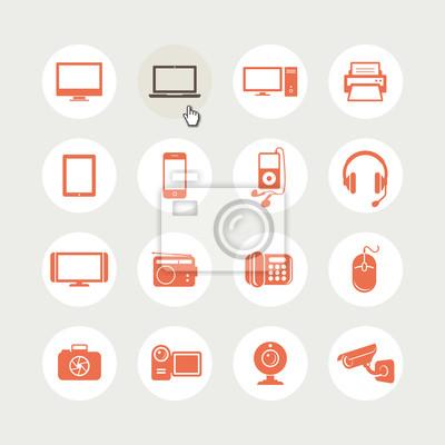 Zestaw ikon urządzeń elektronicznych