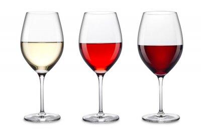 Naklejka Zestaw kieliszki do wina