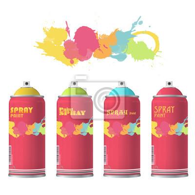 Zestaw kolorów Spray z graffiti.