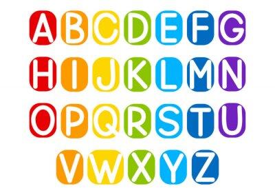 Naklejka Zestaw liter wektorowych do projektowania