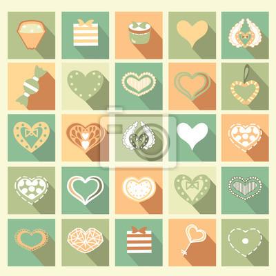Zestaw Love ikon.