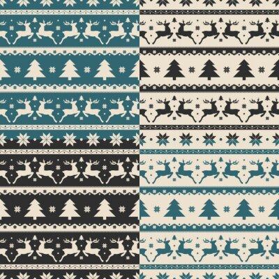 Naklejka Zestaw Narodzenie i Nowy Rok bez szwu wzorów