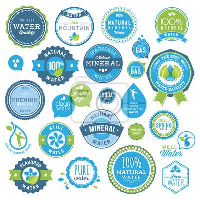 Zestaw odznak wody i naklejki