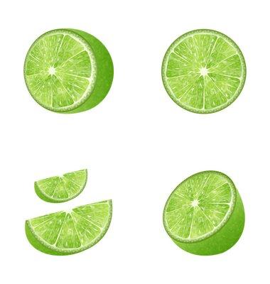 Naklejka Zestaw Owoce Lime