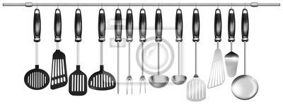 Zestaw poziome naczynia kuchenne