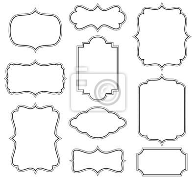 Naklejka Zestaw prostych ramek dekoracyjnych