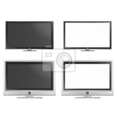 Zestaw pustych telewizora. Vector design.