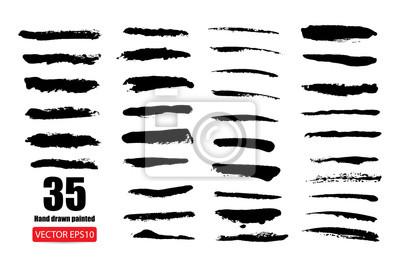 Naklejka zestaw ręcznie rysowane malowane porysowany wektor Ilustracje szablon grunge banery abstrakcyjne tło tekstury szczotki do promocji sprzedaży. na białym tle
