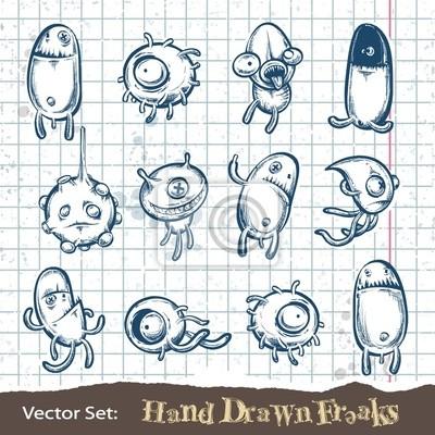 Zestaw ręcznie rysowane maniaków