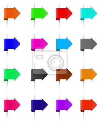 Zestaw różnych kolorach zakładek