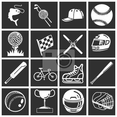 zestaw sportowych icons / elementów konstrukcyjnych