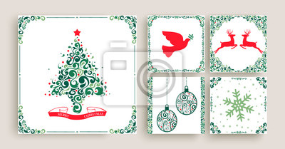Zestaw świąteczny ozdoba z życzeniami