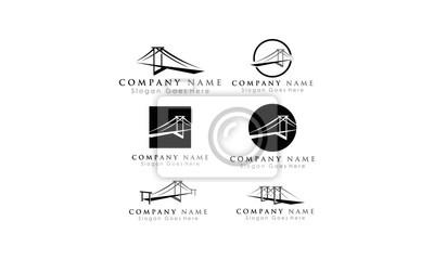 zestaw szablonów logo wektor most