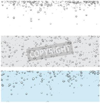 Naklejka Zestaw tła z pęcherzyków. Ilustracji wektorowych wody.
