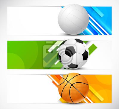 Zestaw transparenty z kulkami sportowych