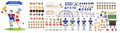 Naklejka Zestaw znaków amerykańskiego piłkarza i cheerleaderki