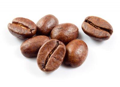 Naklejka Ziarna kawy izolowane