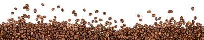 Naklejka Ziarna kawy na białym tle