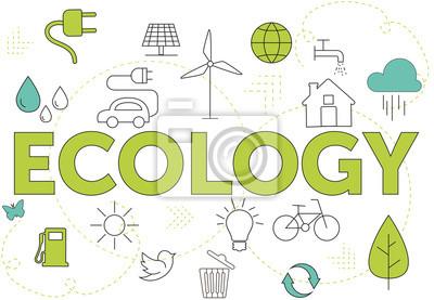 Naklejka Zielona Ekologia