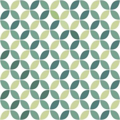 Naklejka Zielona Geometryczny wzór retro bezszwowe