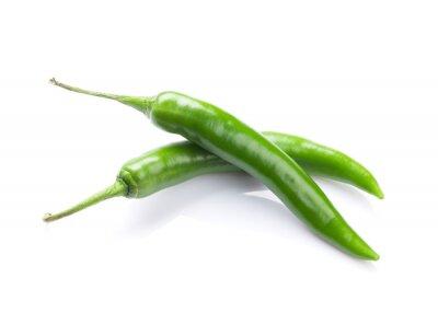 Naklejka Zielona papryka chili