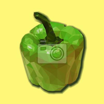 Zielona papryka wieloboczny.