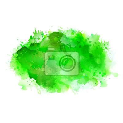 Zielone cienie akwareli plamy. Jasny kolor elementu dla abstrakcyjnego artystycznego tła eko.