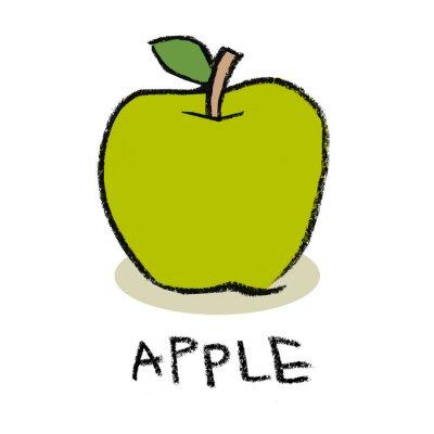 Naklejka Zielone jabłko