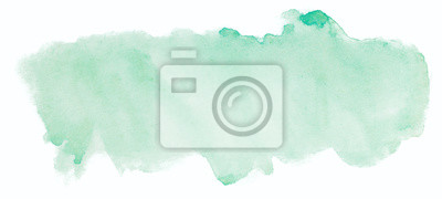 Naklejka zielone tekstury akwarela