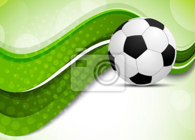 Zielone tło z piłki nożnej