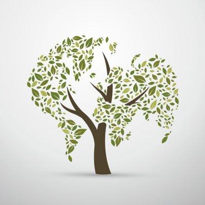 Naklejka Ziemia liści, ilustracji wektorowych