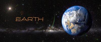 Naklejka Ziemia w przestrzeni kosmicznej.