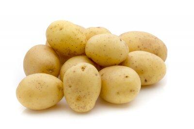Naklejka Ziemniaki na białym tle. Nowych zbiorów.