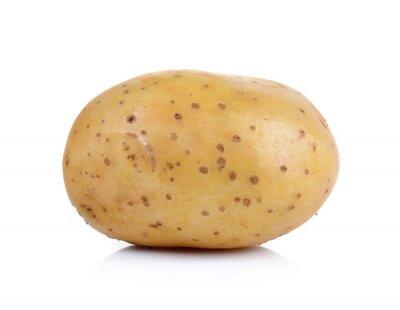 Naklejka ziemniaków na białym tle