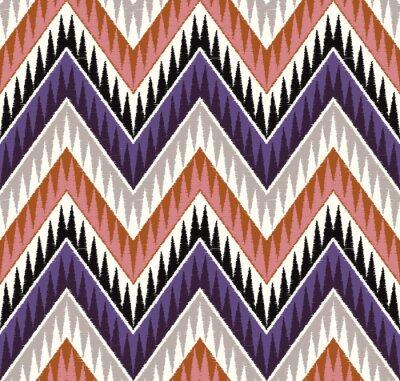 Naklejka Zig Zag teksturą bez szwu wzór włókienniczych