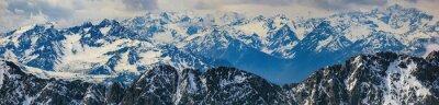 Naklejka Zimowy krajobraz panorama Alp góry
