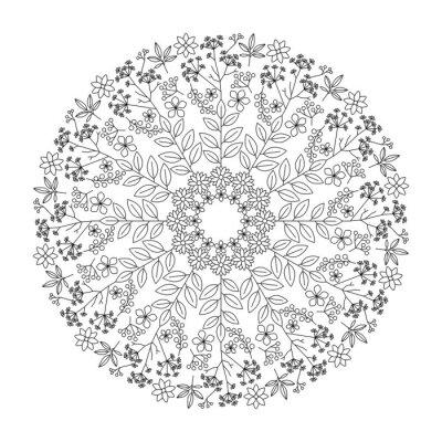 Naklejka Zioła mandala
