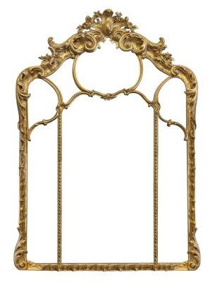 Naklejka Złota ramka do obrazów, luster lub zdjęć