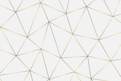 Naklejka złote tło geometryczne