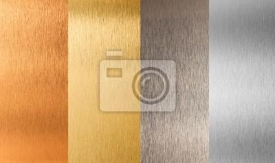 Naklejka złoto srebro brąz zestaw metali kolorowych