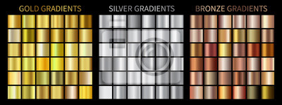 Naklejka Złoto, srebro, brązowe gradienty