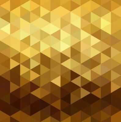 Naklejka Złoty wzór low poly Geometria trójkąta fantazyjne
