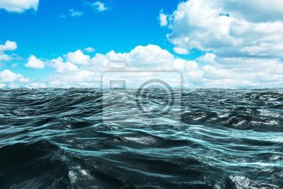 Naklejka Złożony obraz niebieski surowiec oceanu