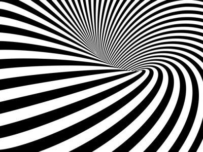 Naklejka Złudzenie optyczne tunel