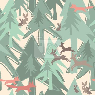 Naklejka Zmień sezon w lesie