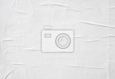 Naklejka zmięty białym papierze