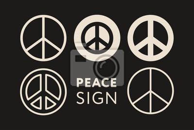 Znak pokoju Pacific Pacific Hippie. Ikona obrysu minimalny zarys linii płaskiej.